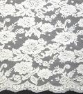 Designer Vault Bridal Fabric - Bridal Fantasy Beaded Lace White