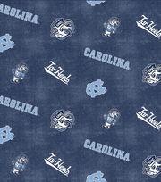 "University of North Carolina Tarheels Flannel Fabric 42""-Distressed Logo, , hi-res"