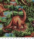 Novelty Cotton Fabric 43\u0022-Dinosaurs