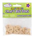 Krafty Kids Craft Shaped Natural Hearts Buttons