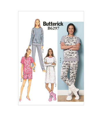 Butterick Misses Sleep & Lounge-B6297