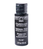 FolkArt MultiSurface Chalkboard Paint 2oz-Black, , hi-res