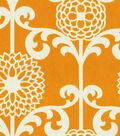 Waverly Lightweight Decor Fabric 54\u0022-Fun Floret /Citrus Orange