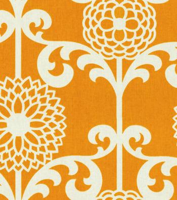 "Waverly Upholstery Fabric 54""-Fun Floret /Citrus Orange"