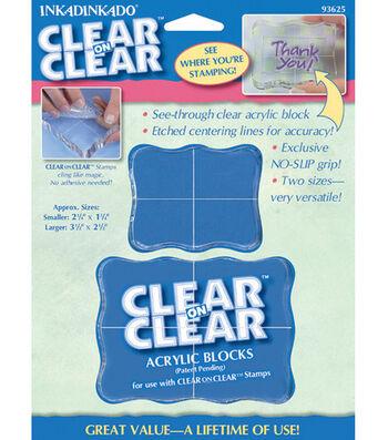 Clear Blocks 2/Pkg-Small & Medium