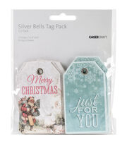 Kaisercraft Silver Bells 12ct 2''x3.25'' Tags, , hi-res