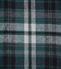 Flannel Shirting Fabric 42.9\u0022-Green Navy White