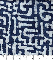 "Legacy Studio™ Indian Batiks Cotton Fabric 44""-Indigo Puzzle, , hi-res"