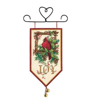 "Dimensions Banners Cardinal Joy Mini Counted Cross Stitch Kit-10"" Long"