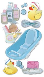 Jolee's Boutique Dimensional Stickers-Bath Time, , hi-res