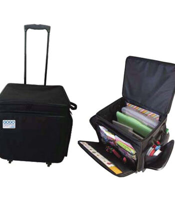 """GOGO 300 Crafter Rolling Tote 20""""x17""""x14"""" Black"""