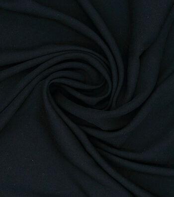 """Silky Stretch Rayon Fabric 54""""-Black"""