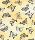 Buttercream™ Cosette Cotton Fabric 43\u0022-Butterfly Metallic Yellow