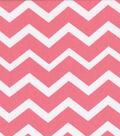 Keepsake Calico™ Cotton Fabric 43\u0022-Coral&White Chevron