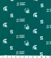 "Michigan State University Spartans Cotton Fabric 43""-Herringbone, , hi-res"