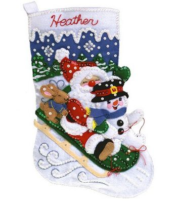 Janlynn Christmas Fun Stocking Felt Applique Kit