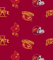 "Iowa State University Cyclones Fleece Fabric 58""-All Over, , hi-res"
