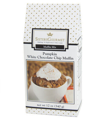 Sisters Gourmet White Chip Pumpkin Muffin Mix