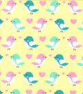 Snuggle Flannel Fabric 42\u0027\u0027-Birds on Yellow