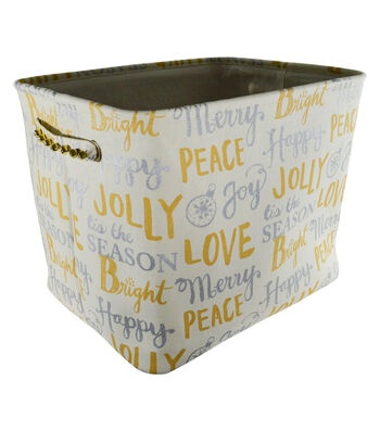 Maker's Holiday Large Soft Bin-Merry & Bright