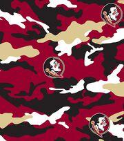 """Florida State University Seminoles Cotton Fabric 43""""-Camo, , hi-res"""