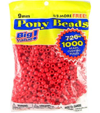 Darice Pony Bead Big Value Pack 9mm