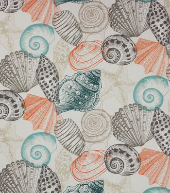 Solarium Outdoor Print Fabric 54''-Seashell Sterling