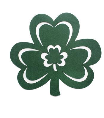 St. Patrick's Day Shamrock Shaped Felt Placemat