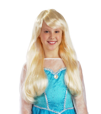 Maker's Halloween Long Children's Wig-Blonde