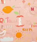 Alexander Henry Cotton Fabric 44\u0022-Quite Delish Pink