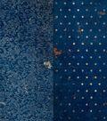 BoBunny Double Dot Vintage Double-Sided Cardstock 12\u0022X12\u0022-Dark Denim