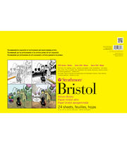 "Strathmore Smooth Bristol Paper Pad 11""X17""-100lb 24 Sheets, , hi-res"