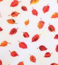 Harvest Cotton Fabric 43\u0022-Tossed Tonal Leaves