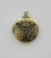 hildie & jo™ Antiquist Locket with Butterfly Gold Pendant, , hi-res