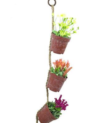 Blooming Spring Wildflower Hanging Pots