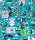 Snuggle Flannel Fabric 42\u0027\u0027-Woodland Owl Friends