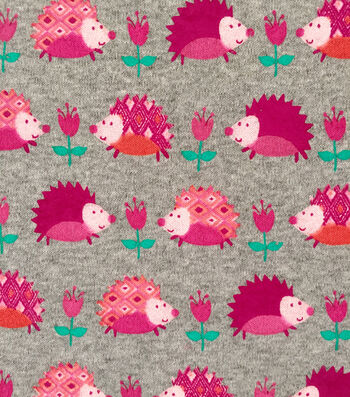 "Doodles Juvenile Apparel Fabric 57""-Hedgehog Interlock"