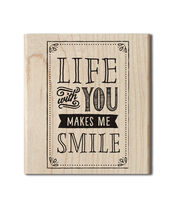 Hampton Art™ Cam & Chloe Mounted Stamp-Life With You, , hi-res