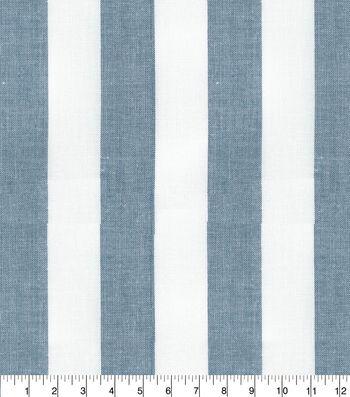 P/Kaufmann Drapery Fabric 56''-Navy Lyndon