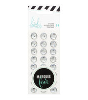 Heidi Swapp Marquee Love Rhinestones 24/Pkg-Black, , hi-res