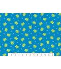 Snuggle Flannel Fabric 42\u0027\u0027-Frogs on Blue