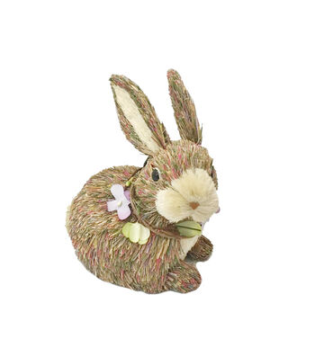 Blooming Spring Easter Grass Rabbit