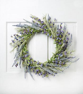 Wild Blooms 22'' Lavender Wreath