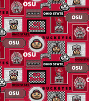 "Ohio State University Buckeyes Cotton Fabric 44""-Packed Patches, , hi-res"