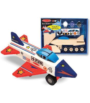 Melissa & Doug Decorate-Your-Own Wooden Jet Plane Kit-