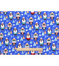 Snuggle Flannel Fabric 42\u0022-Toasty Penguins