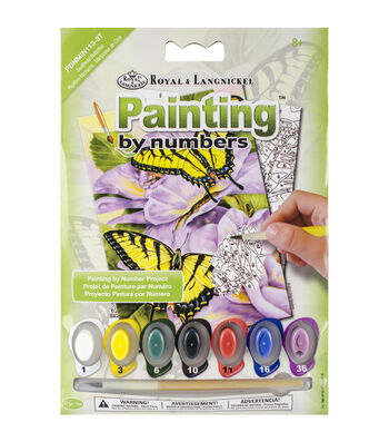 Royal Langnickel Swallowtail Butterflies Mini Paint By Number Kit