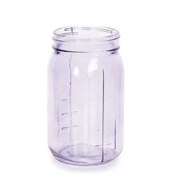 Glass Vintage Look Jar - Purple