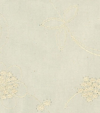 """Waverly Print Fabric 54""""-Candelwicking Classic Natural"""