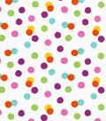 Snuggle Flannel Fabric 42\u0027\u0027-Bright Scattered Dots